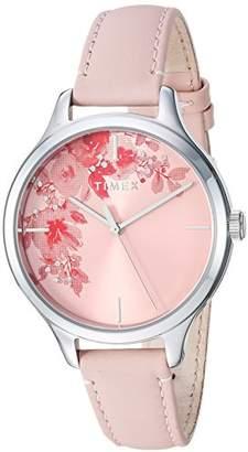 Timex Women's TW2R66600 Crystal Bloom Leather Strap Watch