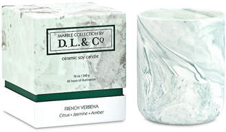 D.L. & Co. French Verbena Marble 3-Wick Candle