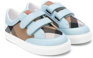 Burberry House Check touch strap sneakers