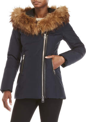 Nb Series By Nicole Benisti Zermatt Real Fur Trim Hooded Coat