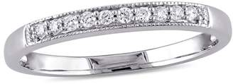 Concerto 10K White Gold 0.1 CT. T.W. Diamond Vintage Wedding Ring