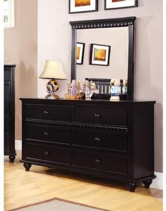 Furniture Of America Furniture of America Westly Youth Dresser and Mirror Set, Black