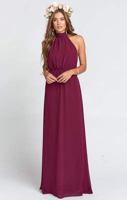 Show Me Your Mumu Collette Collar Dress ~ Merlot Chiffon