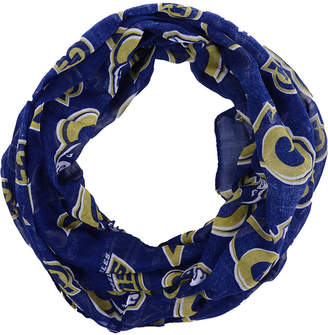 Forever Collectibles Los Angeles Rams All Over Logo Infinity Wrap Scarf