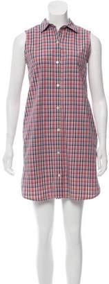 Steven Alan Plaid Mini Dress