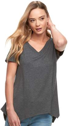 Sonoma Goods For Life Women's SONOMA Goods for Life Soft Touch Shark-Bite Hem Tee