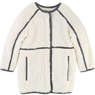 Chloé Soft Lined Coat w/ Contrast Trim, Size 4-5