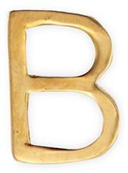 Loquet London 18k yellow gold letter charm - B