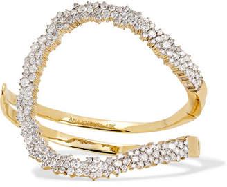A.N.A Khouri - Mirian 18-karat Gold Diamond Cuff - one size