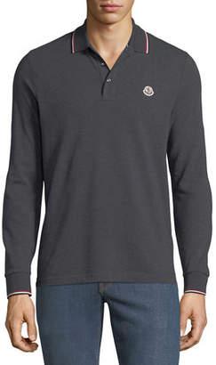 Moncler Men's Long-Sleeve Polo Sweater