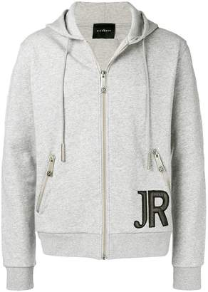 John Richmond logo patch hoodie