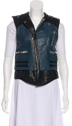 Balenciaga Leather Zip-Up Vest