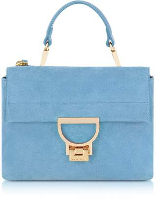 Coccinelle Sky Blue Suede Arlettis Mini Bag w/Shoulder Strap