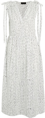 Hatch - The Market Printed Poplin Dress - White $248 thestylecure.com
