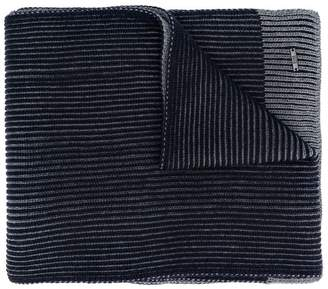 HUGO BOSS ribbed contrast knitted scarf