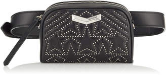 Jimmy Choo HELIA CAMERA Black Star Matelasse Nappa Leather Camera Bag with Mini Studs