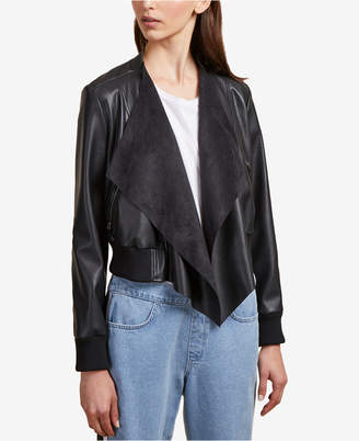 French Connection Abellana Faux-Leather Waterfall Jacket