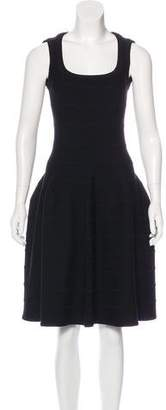 Alaia Wool-Blend Fit and Flare Dress