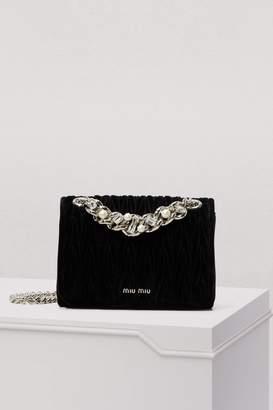 Miu Miu Miu Club Velvet Crossbody Bag