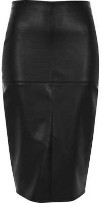 Black Leather Skirt Size 16 - ShopStyle Australia