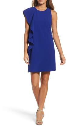 Chelsea28 Asymmetrical Ruffle Shift Dress