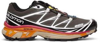 Salomon Grey and Black S/Lab XT-6 Softground ADV Sneakers