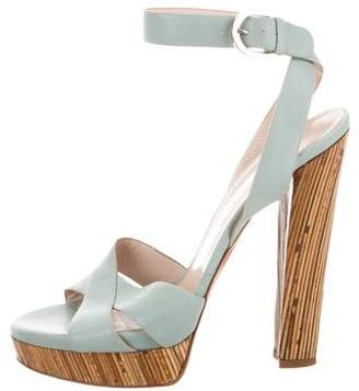 Casadei Crossover High-Heel Sandals