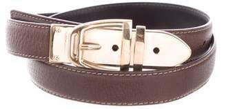 Gucci Gold-Tone Buckle Leather Belt