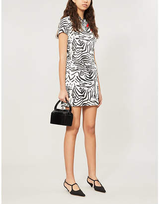 De La Vali Suki tiger-patterned silk-satin dress