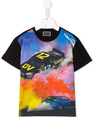 Versace race car print T-shirt