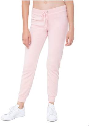 Juicy Couture Gothic Logo Velour Zuma Pant