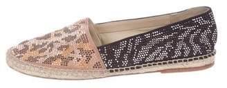 Brian Atwood Embellished Espadrille Flats
