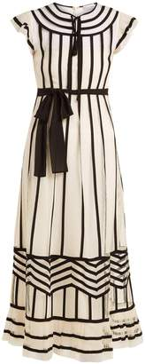 RED Valentino Contrast-trimmed point d'esprit dress
