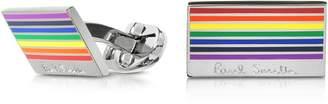 Paul Smith Rainbow Edge Brass Plated Men's Cufflinks