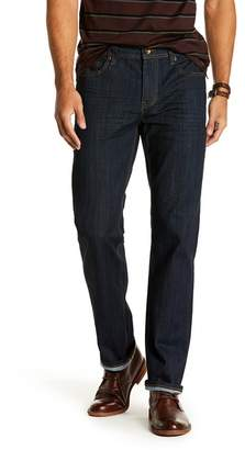 "Seven7 Straight Leg Stretch Jeans - 30-34"" Inseam"