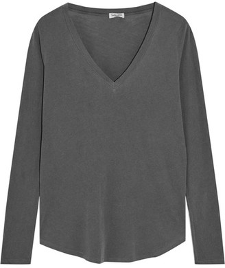 Splendid - Vintage Whisper Supima Cotton-jersey Top - Dark gray $105 thestylecure.com