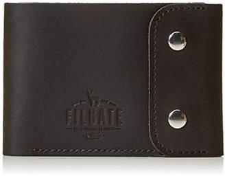 Filgate Leather Wallet Kit Card Holder Coin Bag Metal Buckle Wallet Mahogeny Brown