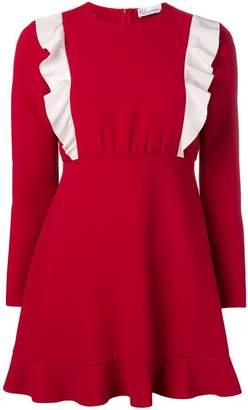 RED Valentino long-sleeve ruffled dress
