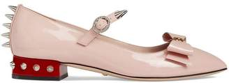 Gucci Patent leather ballet pump with bow