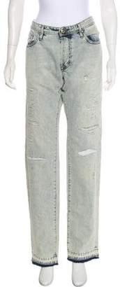 Just Cavalli Acid Wash Mid-Rise Jeans