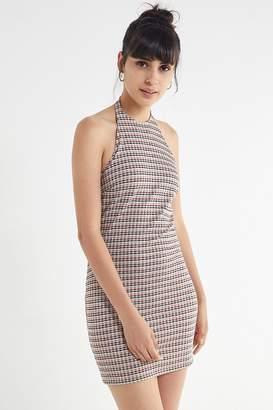 Urban Outfitters Plaid Halter Mini Dress