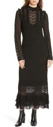 Polo Ralph Lauren Pointelle Lace Midi Dress