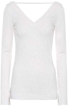 Brunello Cucinelli Stretch-cotton V-neck sweater