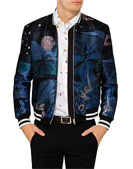 Paul Smith Night Print Jacquard Bomber Jacket