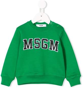 MSGM Kids logo patch sweatshirt