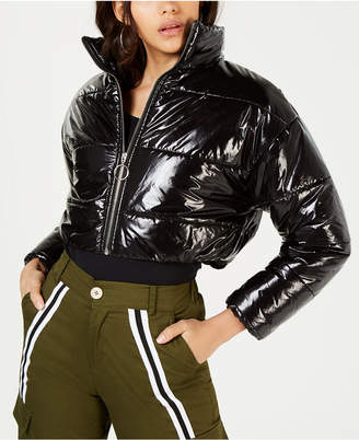 Waisted Cropped Puffer Jacket
