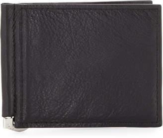 Neiman Marcus Money-Clip Bi-Fold Wallet, Black