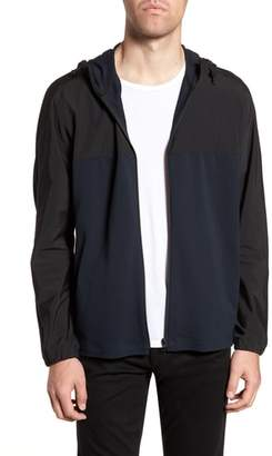 Theory Combo Tech Regular Fit Full Zip Hoodie