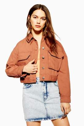 Topshop Womens Petite Blush Shacket - Blush