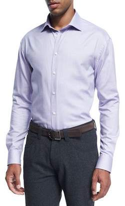 Armani Collezioni Micro-Dot Cotton Dress Shirt